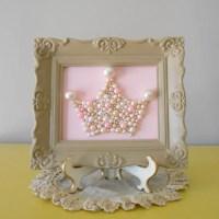 Pearl princess crown art. Mosaic wall art. Pastel by ...