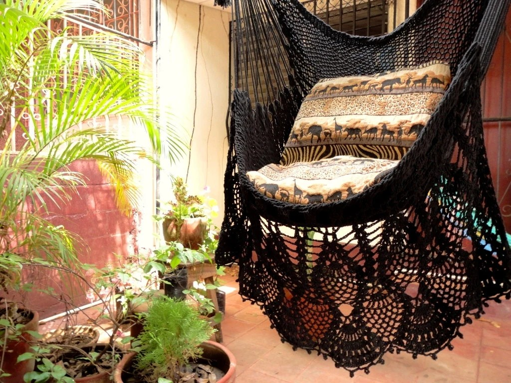 Black Hanging Chair Black Sitting Hammock Hanging Chair Natural Cotton And By