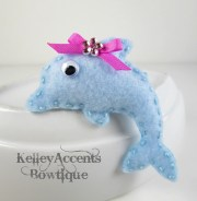 items similar pink bow dolphin