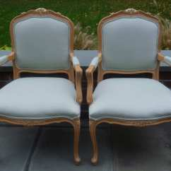 White Dining Chair Covers Canada Fan Back Reserved Pair Louis Xv Chairs Ethan Allen Vintage Bergère