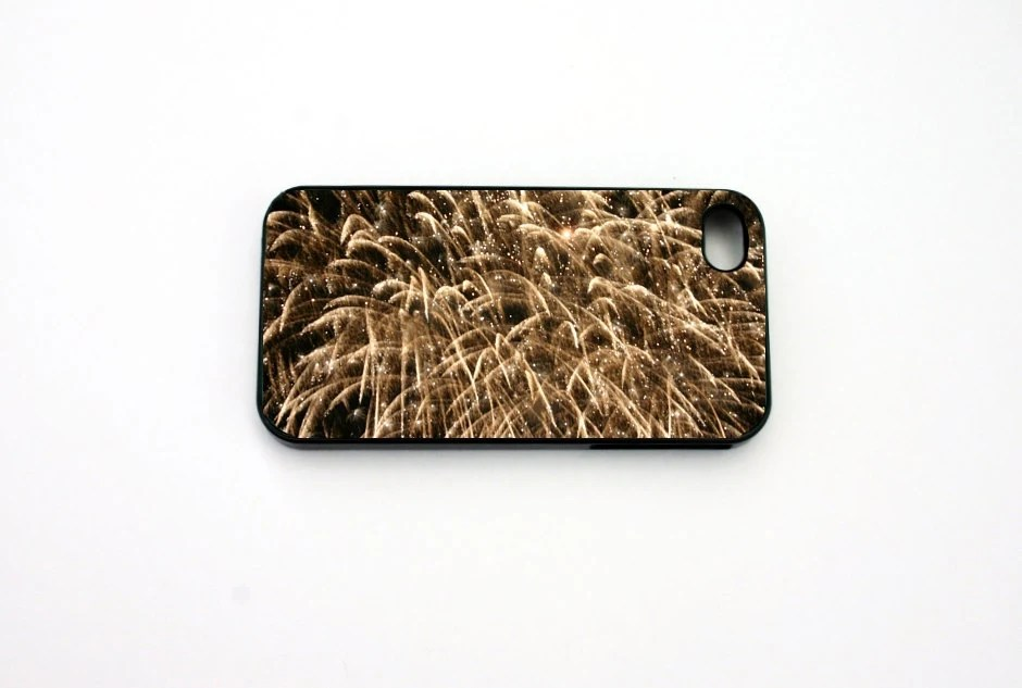 iphone 5 Case, iphone 4/4s Case, Fireworks, New years eve,   Black, Gold, Fire Works, FIreworks, New Years Eve - 8daysOfTreasures