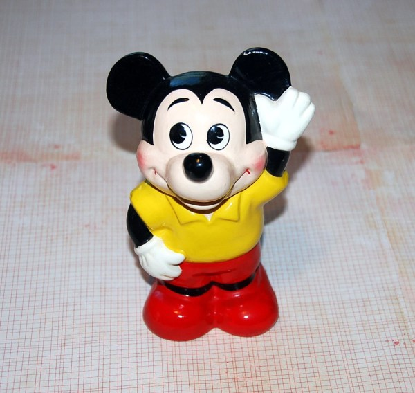 Vintage Mickey Mouse Bank Of Composite Plaster Japan