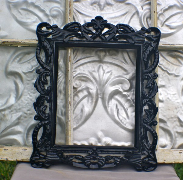 Ornate Frame 8 X 10 Black Michellelisatreasure