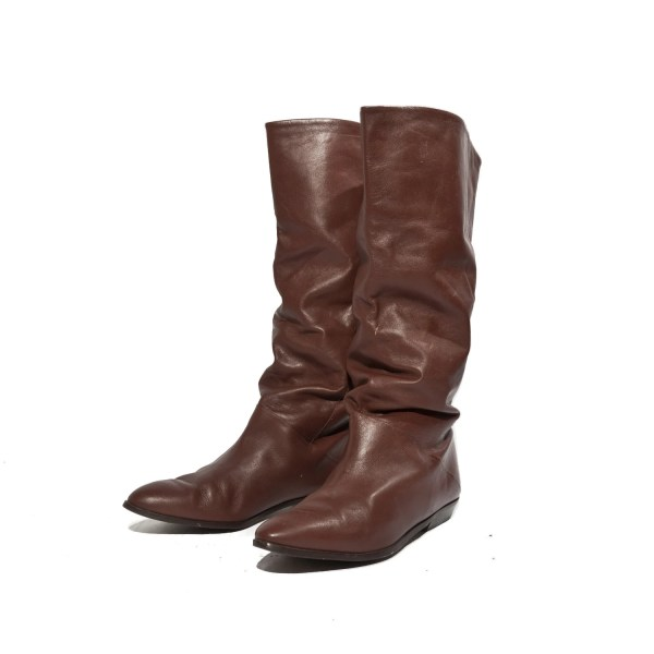 80s Fashion Slouch Boots In Brown Women' Rabbithousevintage