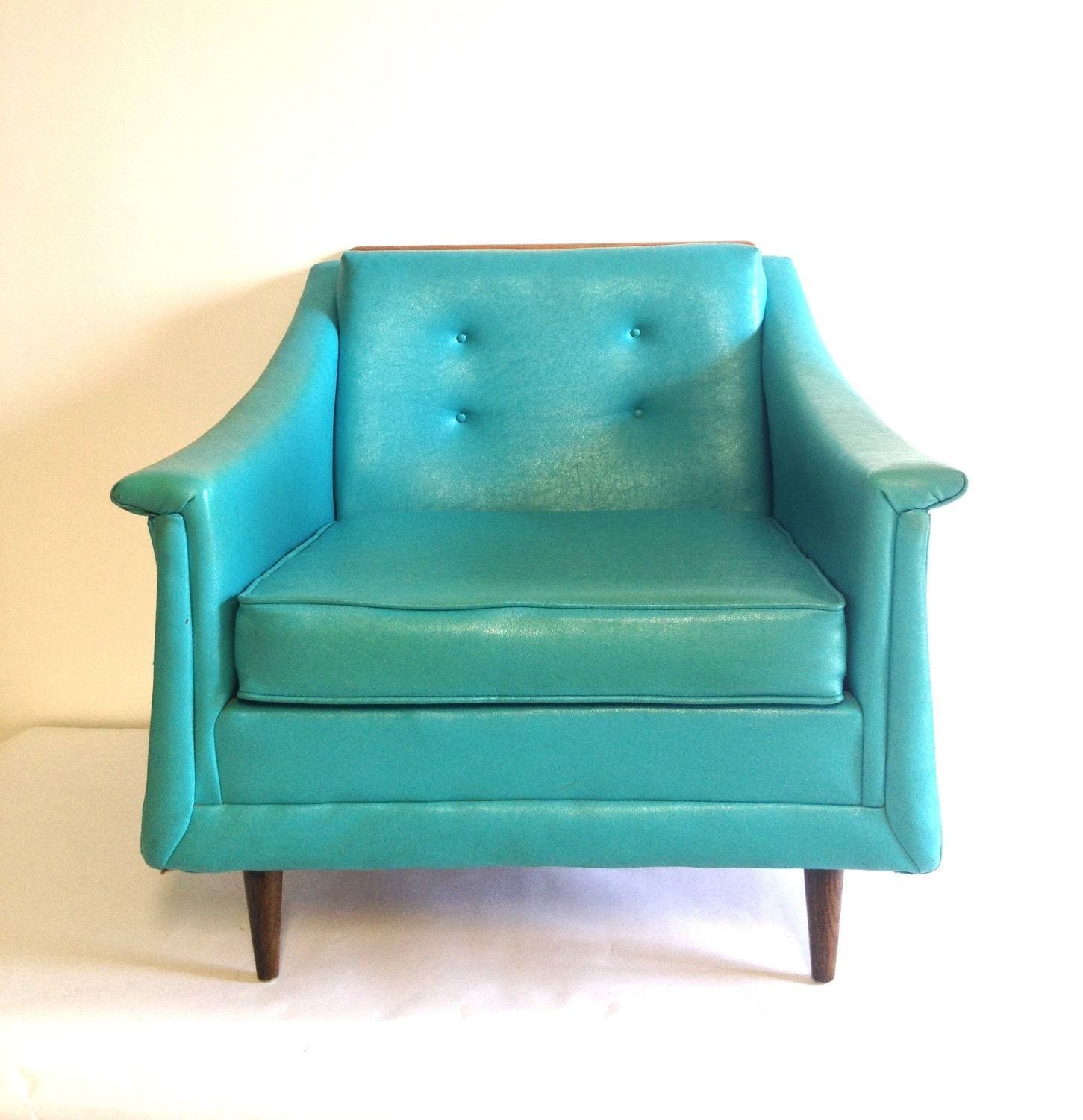 aqua desk chair accent orange mid century modern turquoise lounge club