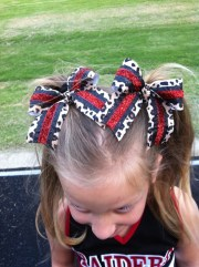 pigtail cheer bows sparkly red
