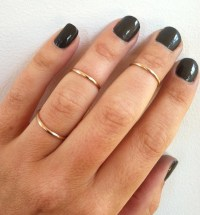 Set of 3 Mid Knuckle Rings 14K Gold Filled Stacking Rings