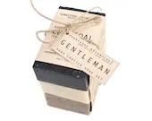 Organic Man Soap Set. 3 bar soap set. Handmade Vegan 100% Natural Cold Process Soap. - HerbivoreBotanicals