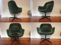 Rare Green Knoll Office Chair Saarinen Mid Century Mad Men Arm