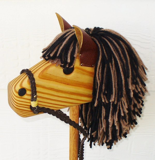 Hobby Horse Stick Horse Waldorf Toy Personalized Wood