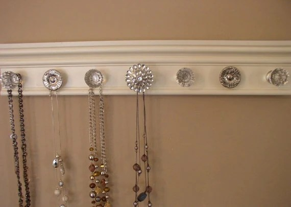 jewelry holder This wall necklace organizer has 7 by