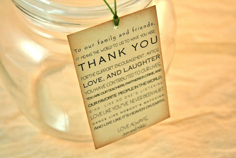 Weddings Favors Paper Goods Vintage Favor Tags Thank
