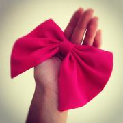 big pink hair bow .045 colordrop