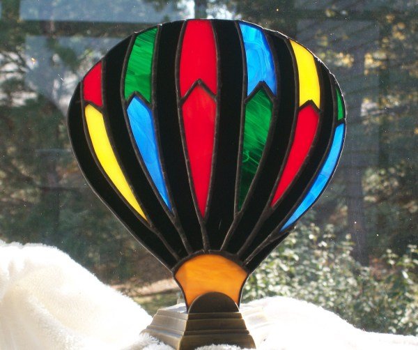 Hot Air Balloon Stained Glass Lamp