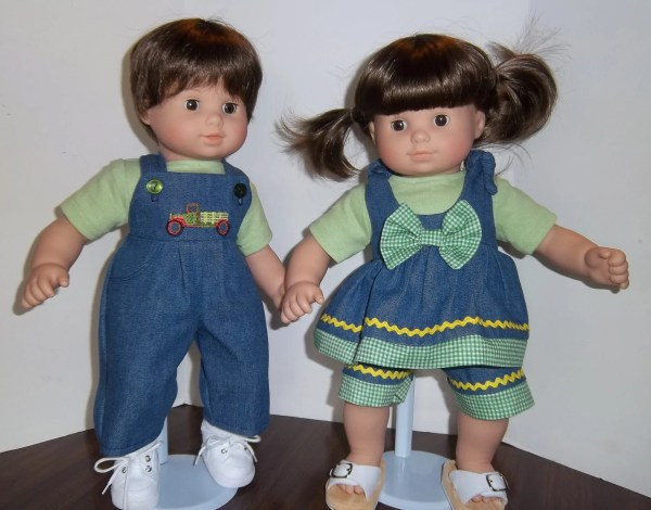American Girl 15 Doll Clothing Bitty Twins Green