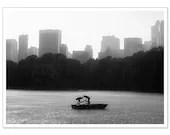 Hurricane Sandy Relief - Red Cross Donation - Romantic Boaters Photo - Central Park NYC - New York, NY - 5x7 Photograph - Black and White - RobinBarrettPhoto