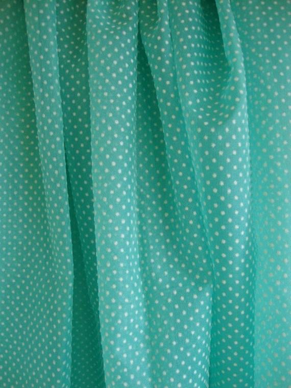 Custom Order for Mimi 50s Dotted Swiss Fabric Aqua Mint Green