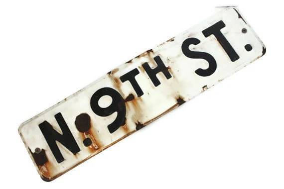 Rustic Vintage Street Sign Black and White Industrial Decor - JoliesCutesies