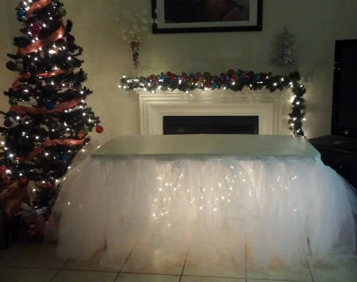 Tulle Tutu Table Skirt Head Table Party Table Custom Made You