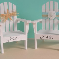 Adirondack Chair Cake Topper Wedding Sashes Diy Beach Decoration Or Toppers