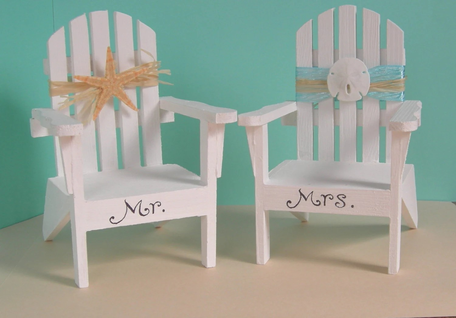 adirondack chair photo frame favors covers diy beach wedding decoration or cake toppers
