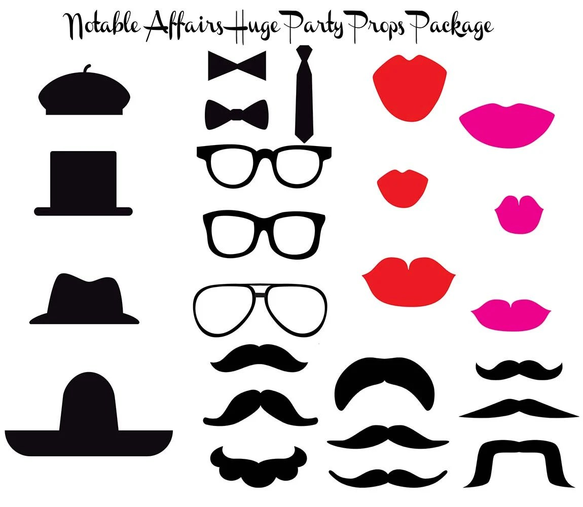 Printable New Years Photo Booth Props