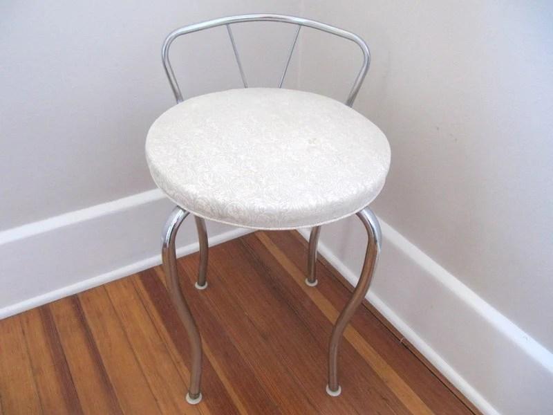Mid Century Vanity Chair White Stool makeup chair
