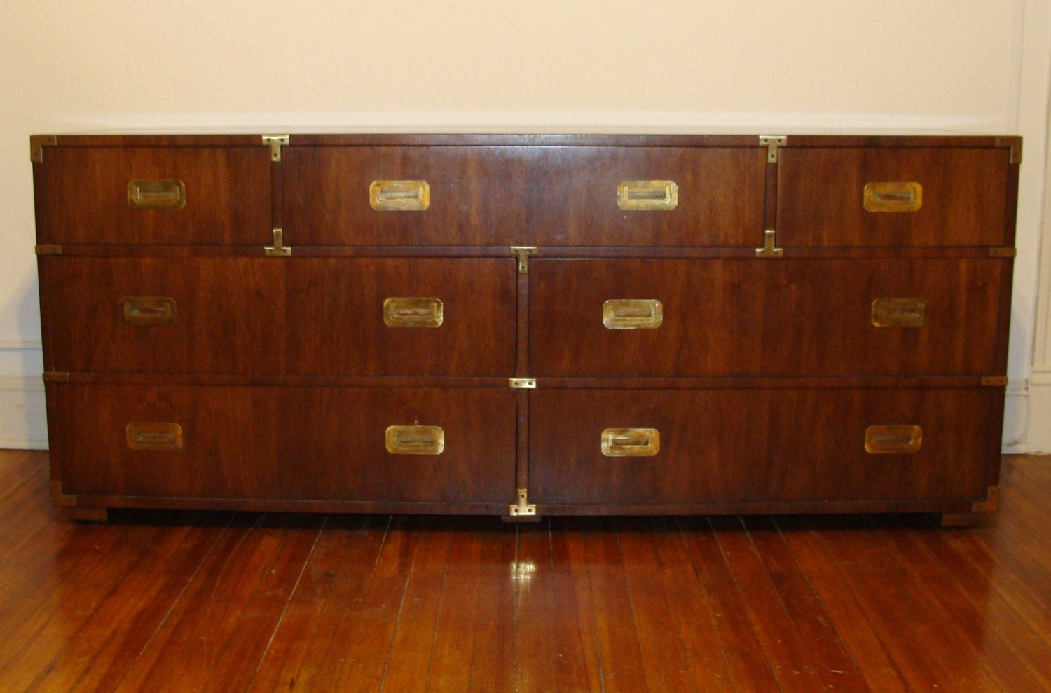 THE Iconic Henredon Campaign Chest 7 Drawer All Original 6 FT
