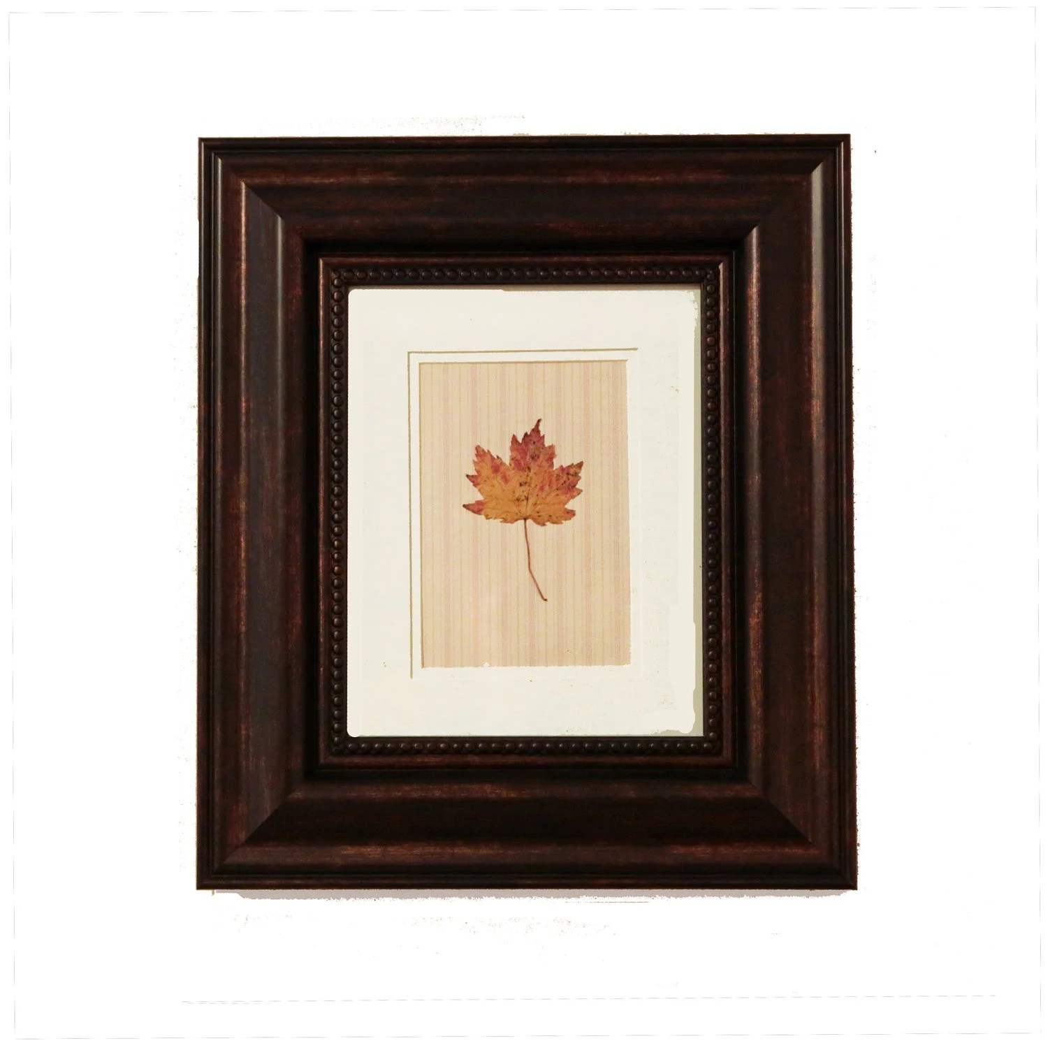 Framed Fall Leaf Pressed Leaves  Autumn Wall Decor Thanksgiving Decor - FoundationCreations