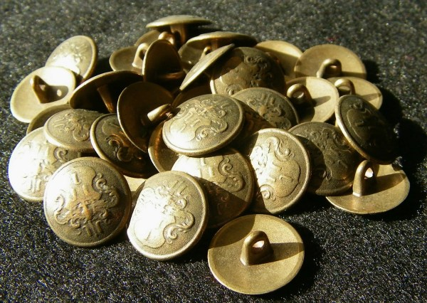 Old Metal Military Buttons - Year of Clean Water