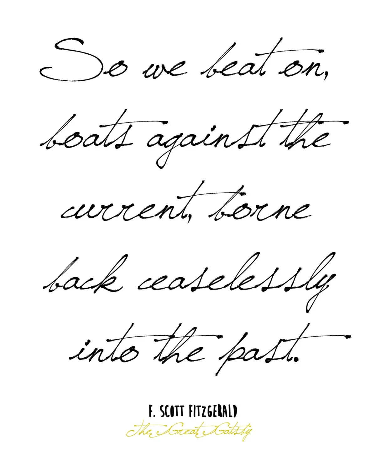 Great Gatsby Quote by MyAesthetic on Etsy
