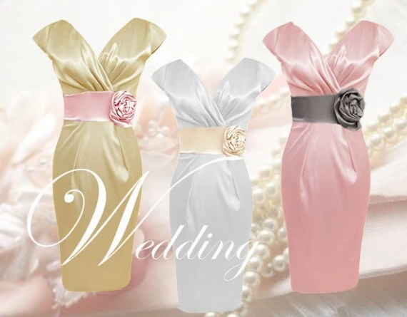 Hochzeitskleid Brautkleid nach MaÃ? Jackie Abendkleid KLEID aus Satin - LAOLAMODE