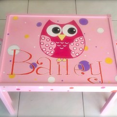 Owl Chair For Kids Target Bungee Personalized Name And Play Table 2 Chairs Children