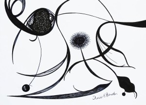 pen drawing drawings simple abstract line ink sunflower