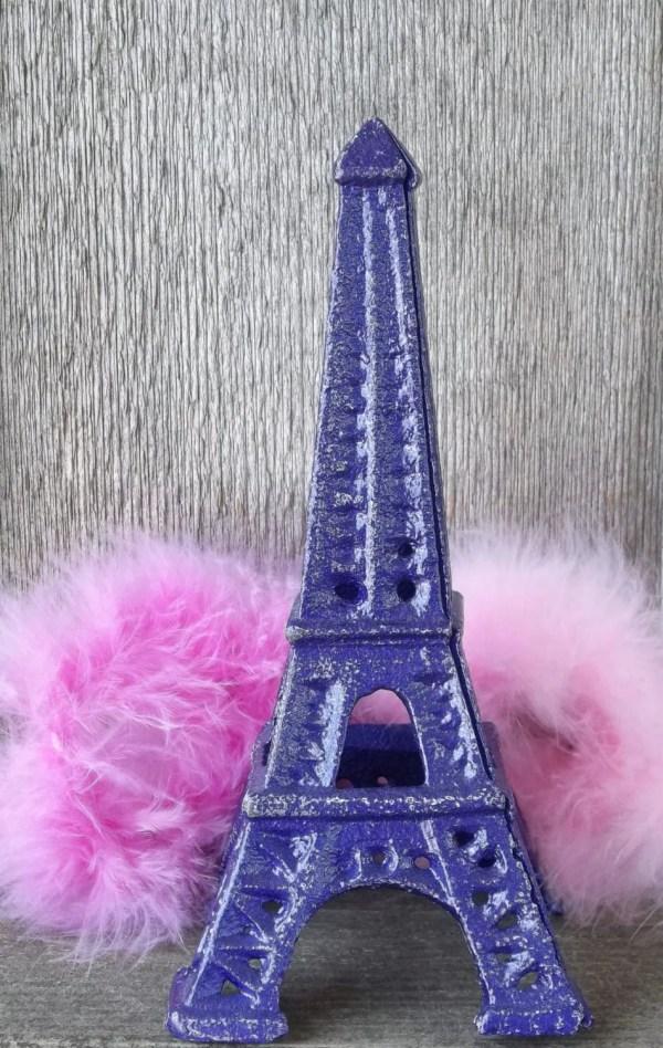 Eiffel Tower Purple Cast Iron Shabby Chic Home Decor French