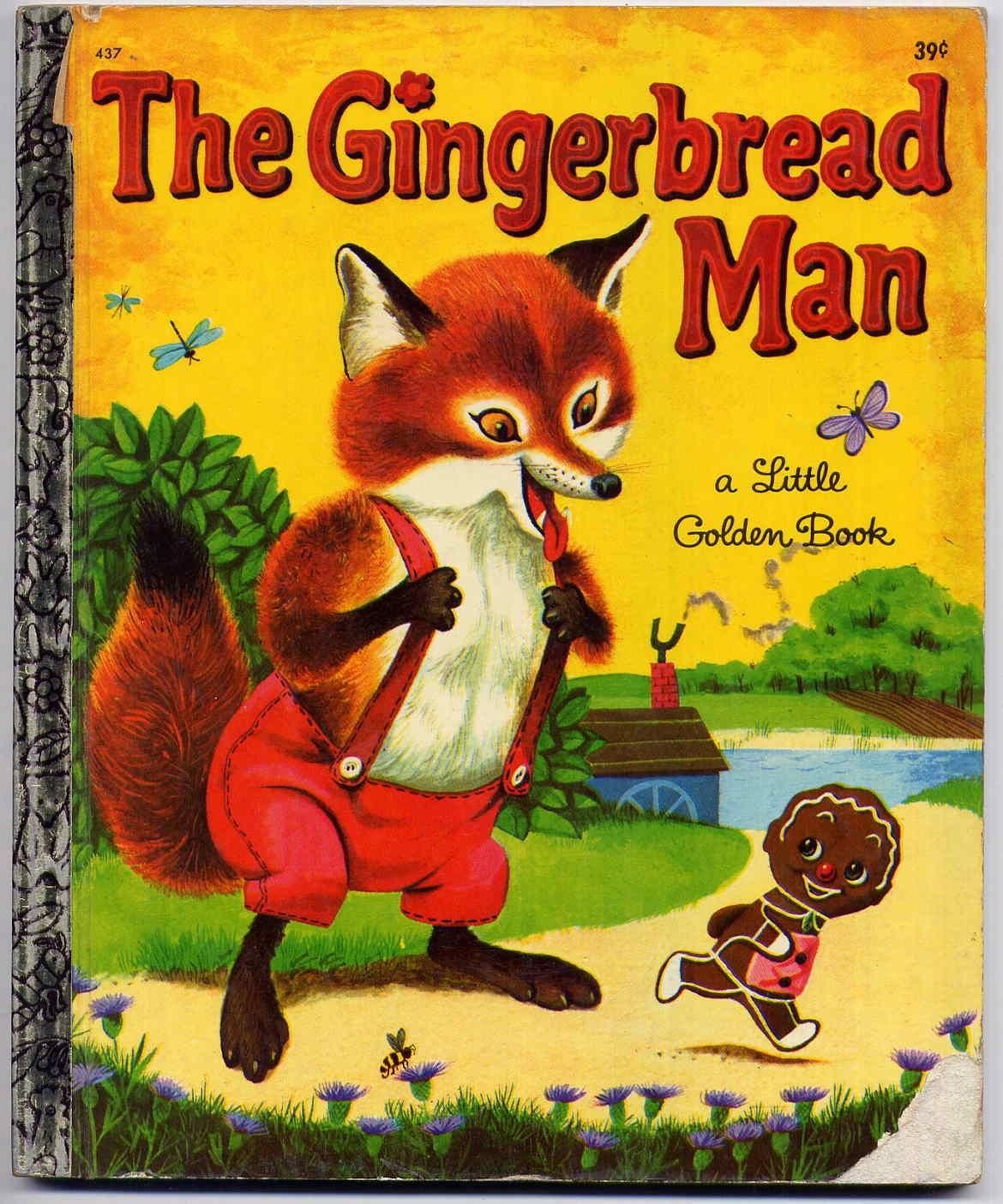 Vintage S The Gingerbread Man Little Golden Book Childrens