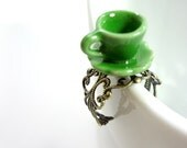 Green Mad Hatter Tea Cup Ring - Glamour365