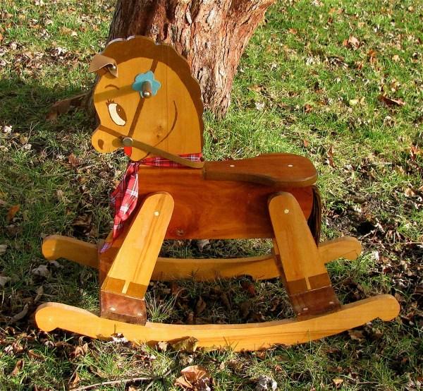 Vintage 50' Wooden Rocking Horse