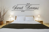 Sweet Dreams Wall Art Vinyl Decal Decor Bedroom Girls Home