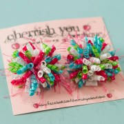 cheerful mini korker hair bows