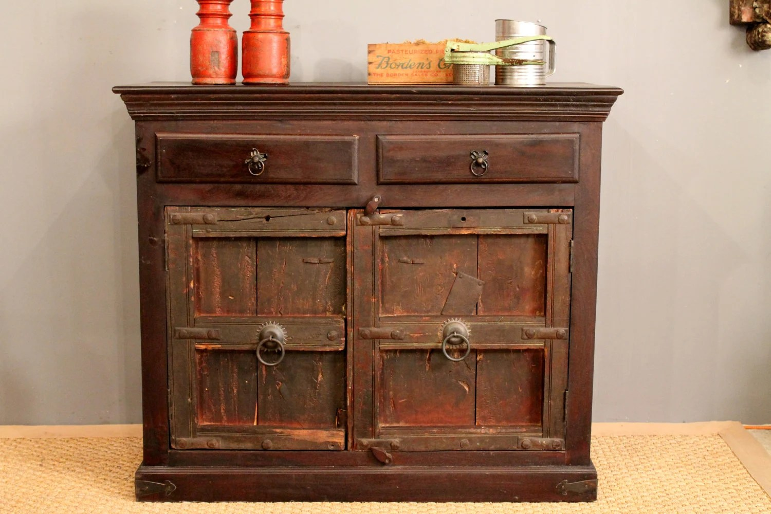 Repurposed Antique Door Buffet