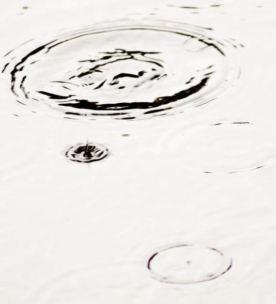Rain Drop Ripple in a Puddle Serene Calm Peaceful by Smcternen
