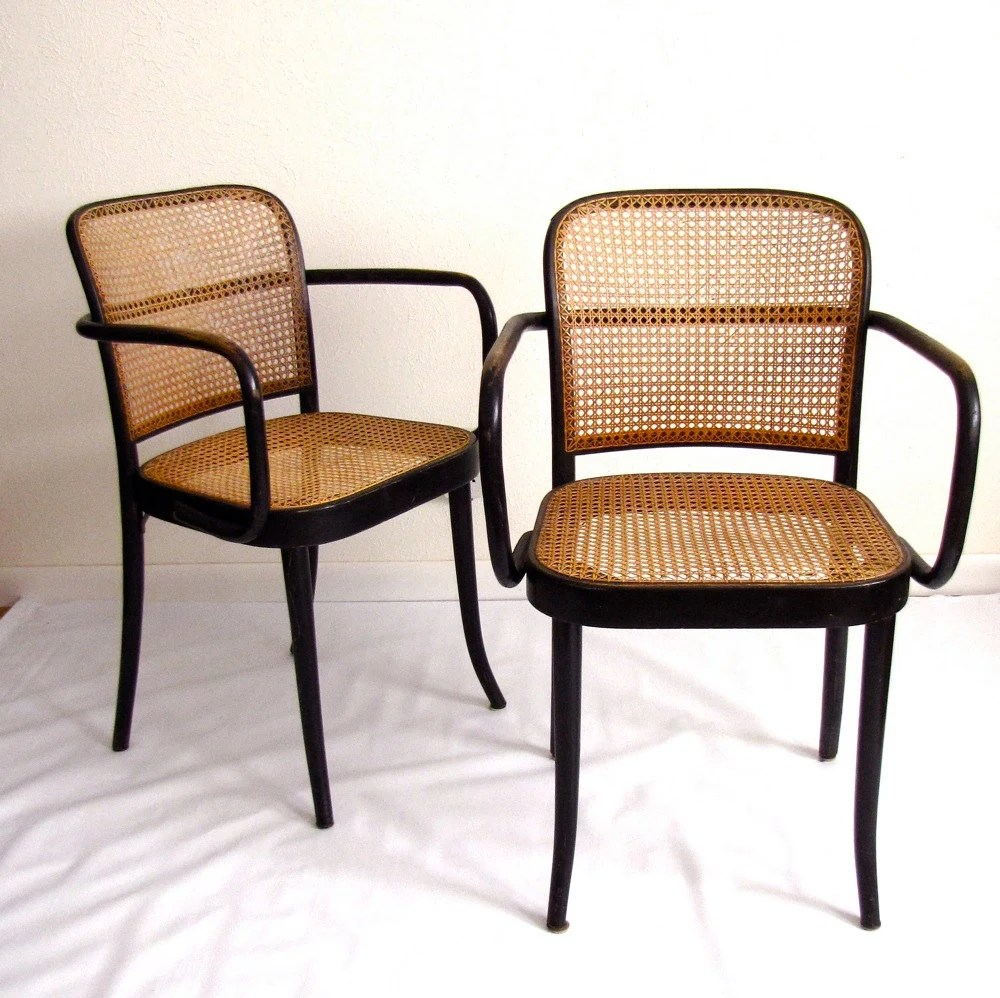 RESERVED 4 Thonet No 811 Prague Chairs Vintage Mid Century