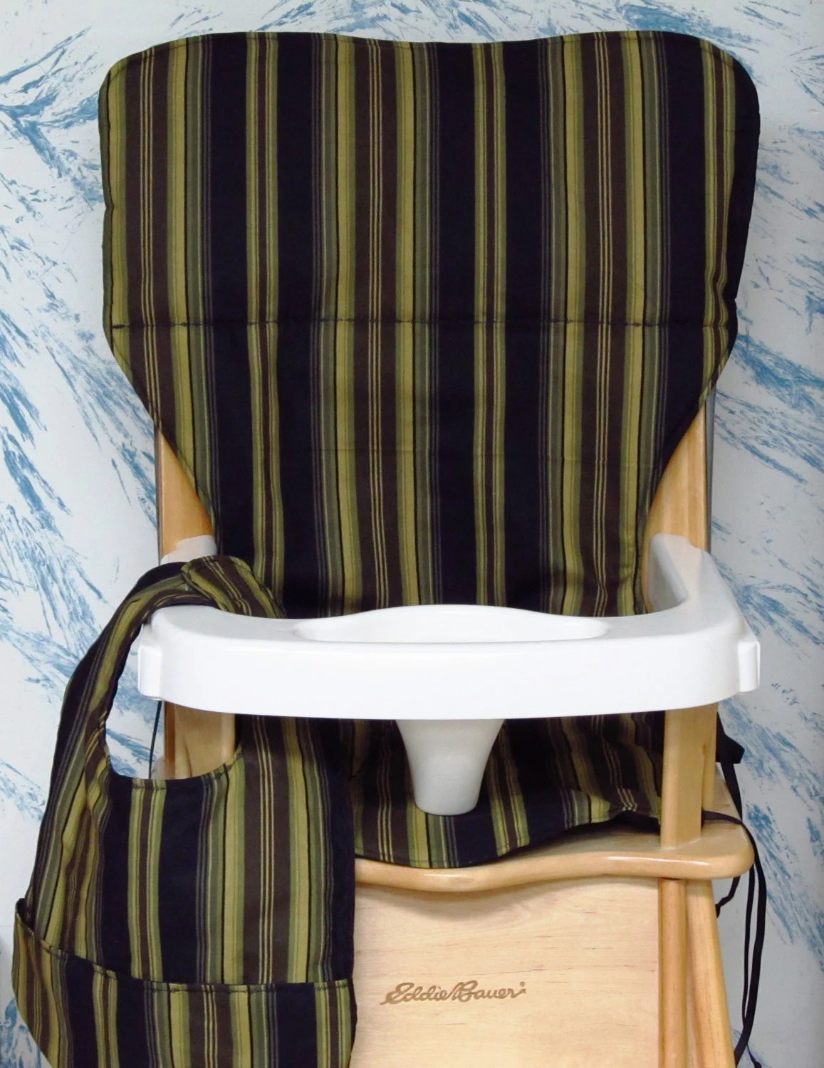 eddie bauer wood high chair walker roller jenny lind cover by sewingsilly