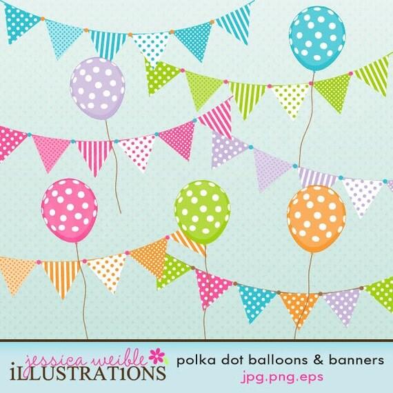 polka dot balloons & banners cute