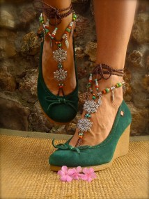 Bohemian Barefoot Wedding Sandals Anklets Crochet
