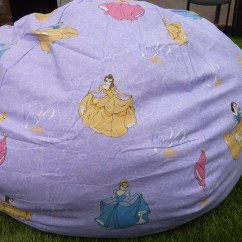 Princess Bean Bag Chair Target Bungee Dorm Purple Cover Pink Blue