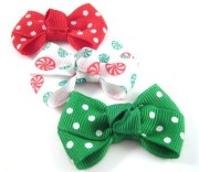 dog hair bows 3 in christmas