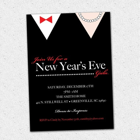 printable new years invitations