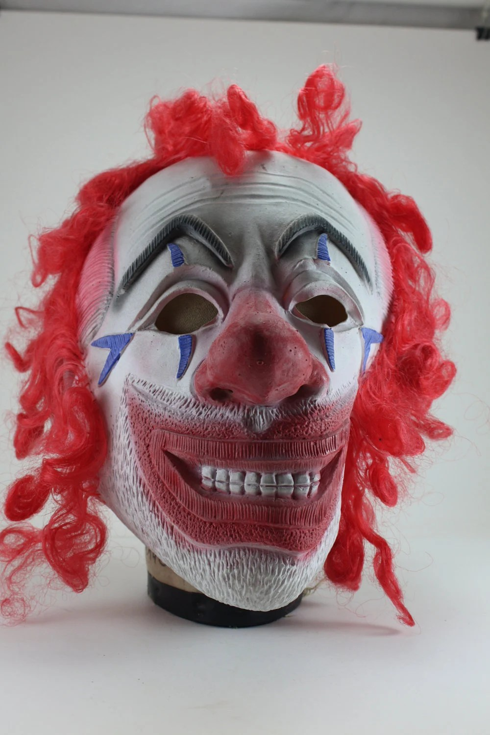 how to make a wooden beach chair swivel dfs vintage ugly creepy scary clown rubber mask
